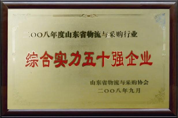 綜合實力五十強企業(2008)