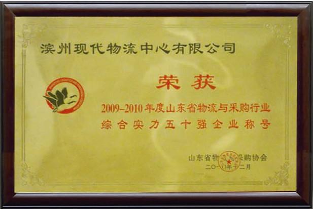 綜合實力五十強企業(2009-2010)