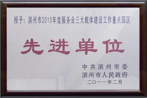 2010年度服務業三大載體建設工作重點園區先進單位